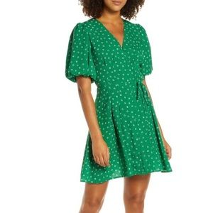 French Connection Adelise Puff Sleeve Fit & Flare
